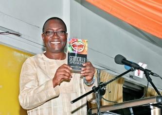Prof K Kwasi Prempeh launching the book